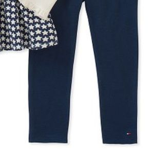 Tommy Hilfiger Matching Sets - Tommy Hilfiger White Navy Ruffle Tunic & Leggings